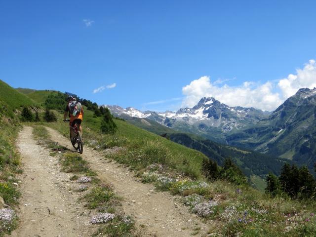 In prossimità dello scollinamento per l'alpe Äbnimatt - sullo sfondo l'Hofenhorn (Punta D'Arbola, 3.236)