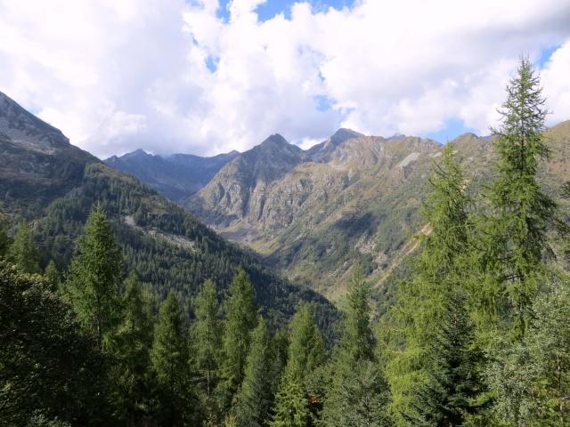 Panorama sul tratto terminale della Val Sorba