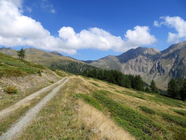Vallone di Vertosan, inizio della discesa in direzione dell'alpe Or de Fra