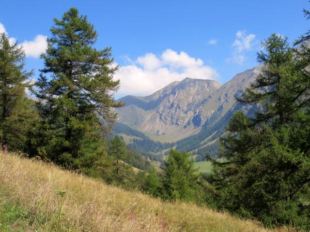 Sguardo sul fondo della valle salendo agli alpeggi superiori
