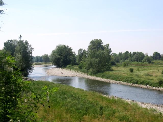 Anello Parco del Serio - vista del fiume Serio lungo la ciclabile