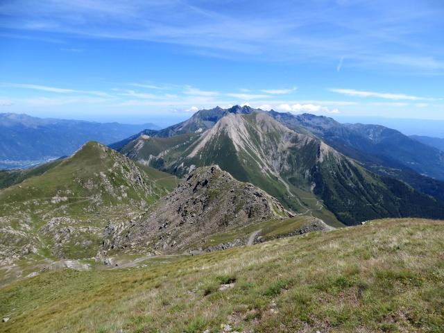 Panorama dalla Cima Ciantiplagna - Punta Fattiere,  Monte Pelvo e Monte Pelouxe