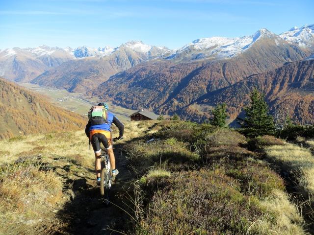 Discesa su sentiero verso la Galmihornhütte