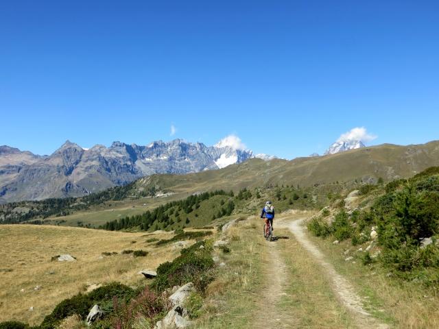 Lungo la discesa verso l'Alpe Foresus