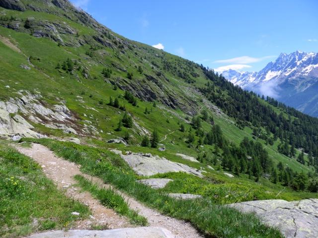 Kummenalp, inizio dell'Alta Via della Lötschental
