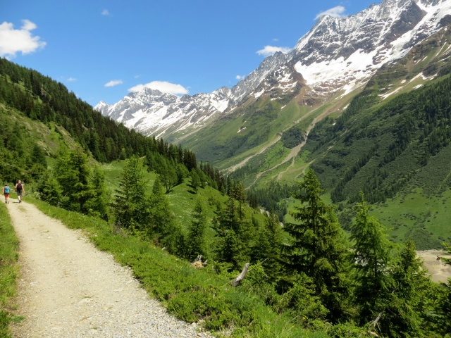 Alta Via della Lötschental in direzione di Fafleralp, panorama