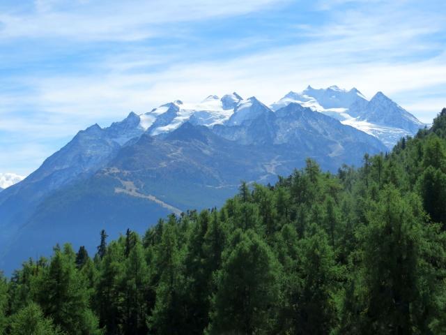 Breitmatte, panorama sul Massiccio del Mischabel