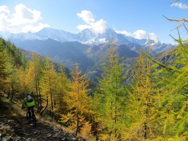 Lungo il sentiero che scende nella Zwischbergental - colori autunnali