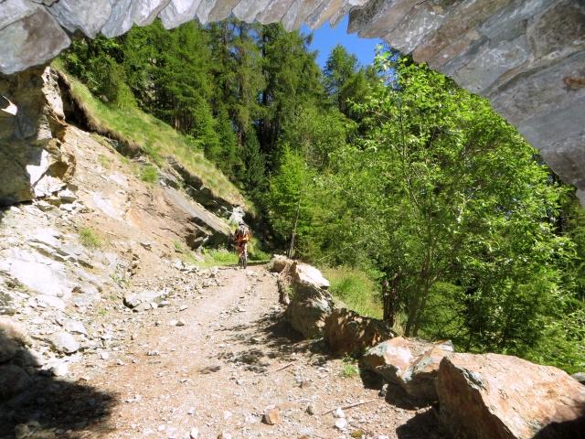 Sterrato proveniente dal Col de Joux