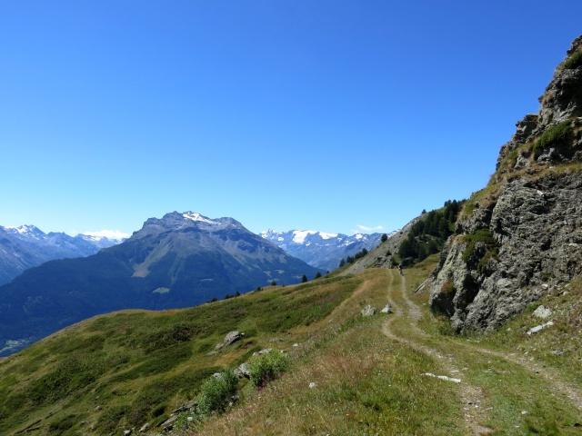 Salita all'Alpe Tsecrousa - panorama