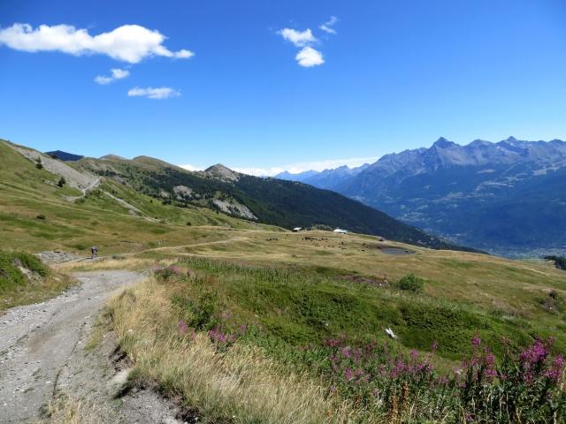Arrivo all'alpe Grand Arpilles
