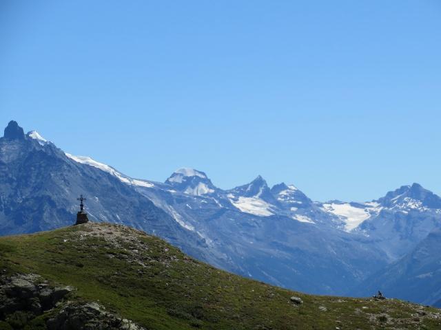 Panorama sul Gran Paradiso dal rifugio Mont Fallère