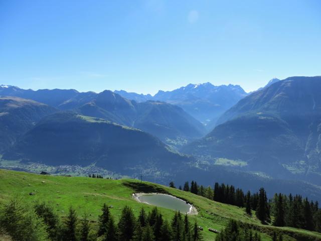 Panorama dalla Laxeralp, vista sul Goms e sulla Binntal