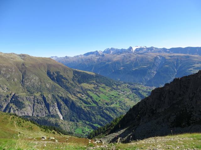 Fieschertal, panorama sull'alpeggio di Ried