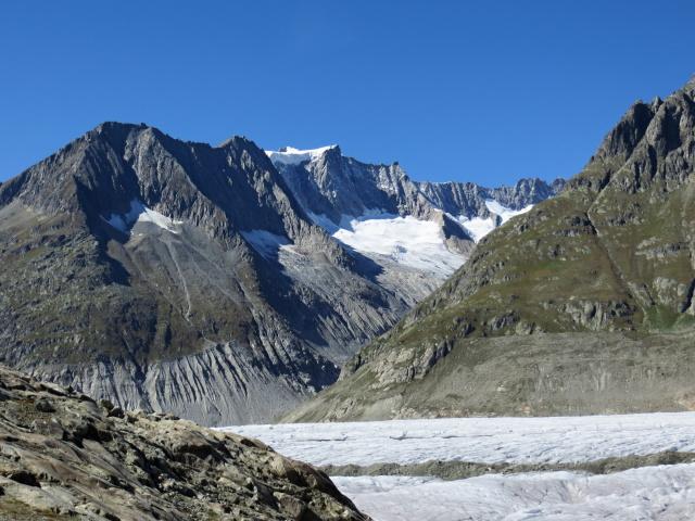 La lingua glaciale che scende dal Geisshorn