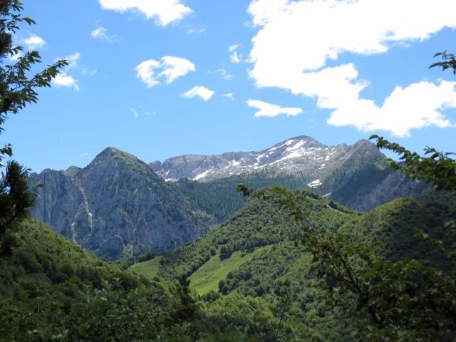 Forestale per Cainallo, panorama all'interno della Conca d'Esino con vista sulla Grigna settentrionale