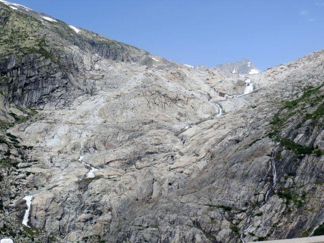 All'origine del Rodano, le cascate