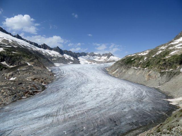 Spettacolare punto panoramico sul ghiacciaio del Rodano