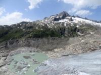 Tratto finale del ghiacciaio del Rodano