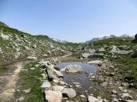 Tratto di sentiero finale per il Grimselpass