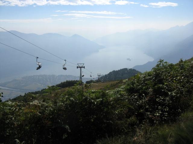 Single-track in salita al Monte Cimetta - panorama