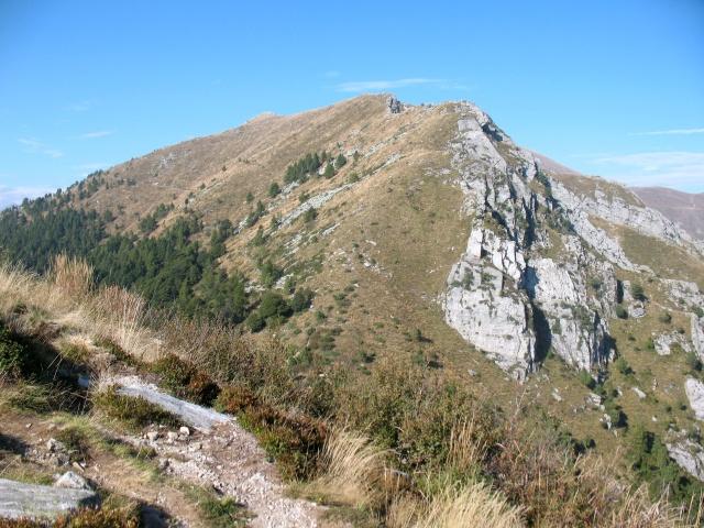 La cima della Trosa dalla terrazza panoramica