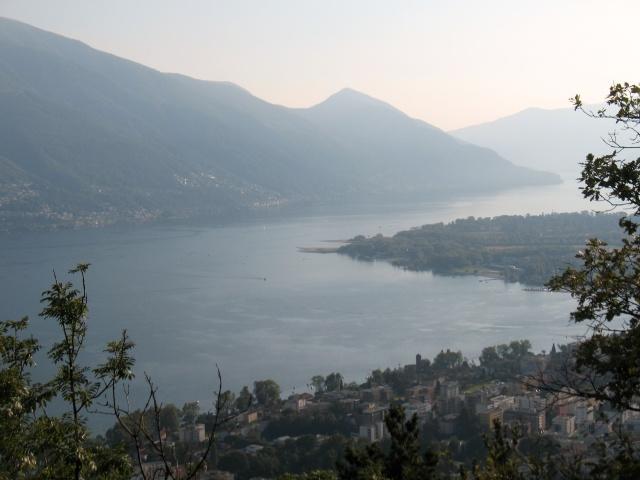 Al termine della discesa - Locarno, Ascona ed il Lago Maggiore