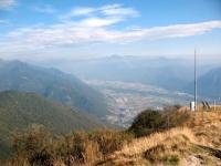 Vista dalla terrazza panoramica della Cimetta - il Piano di Magadino