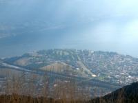 Vista dalla terrazza panoramica della Cimetta - Ascona