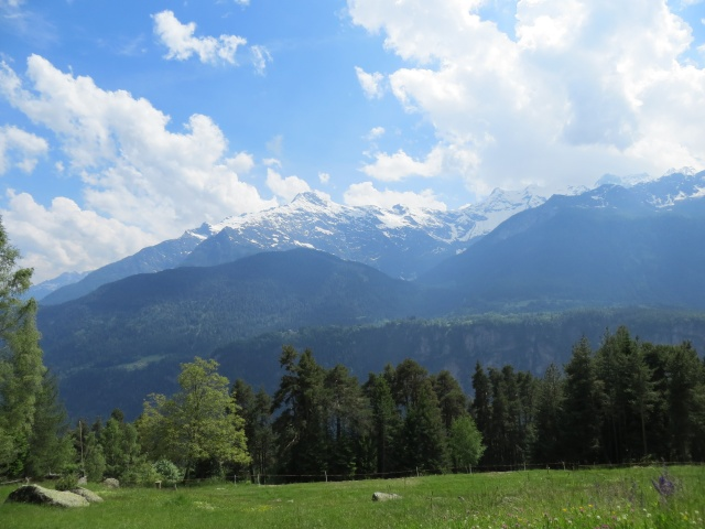 Discesa per Osco, panorama sul gruppo del Pizzo Campo Tencia