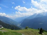 Panoramica sulla Valle Leventina dalla discesa in direzione di Tarnolgio