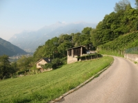 Discesa verso Bellinzona nei pressi di Artore