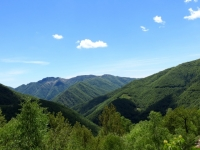 Panorama di Bielmonte e dell'Alta Valsessera dal bivio per l'Alpe Camparient