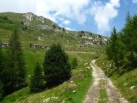 Tratto ripido prima dell'Alpe di mezzo