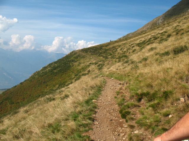 Traverso dopo l'Alpe Chiaro in direzione di Camaggiore