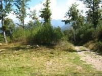 Tratto sterrato per l'Alpe Giumello