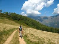 In prossimità dell'Alpe Giumello