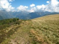 Ultimo tratto di salita - panorama su alta Valsassina