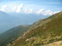 Traverso dopo l'Alpe Chiaro - panoramica sul ramo lecchese del Lago di Como