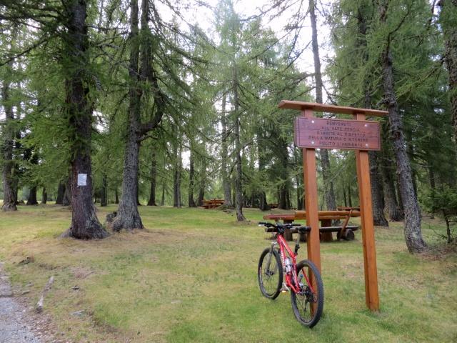 L'area attrezzata nei pressi dell'Alpe Pescia