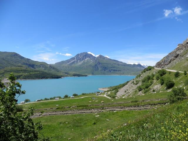 Panoramica sul lago del Moncenisio