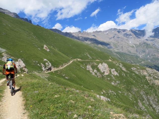 In direzione dell'Alpe Tour