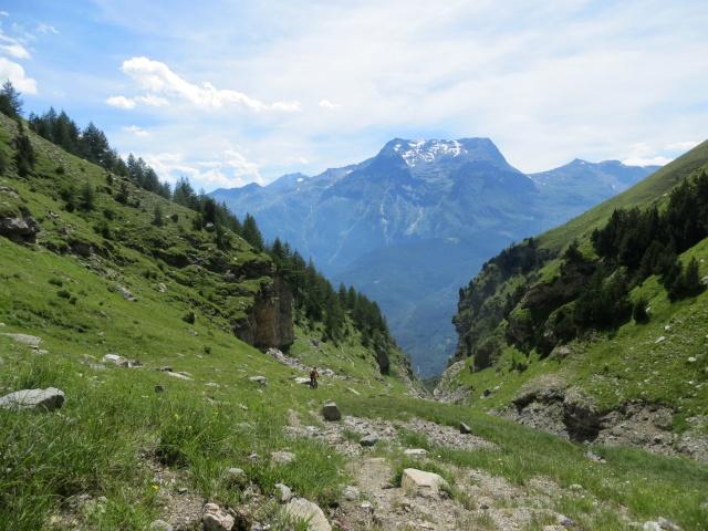 Il tratto difficile e poco pedalabile che scende dall'Alpe Tour verso la Grange Prapiano