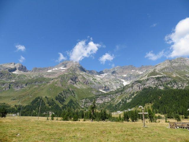 Alpe Veglia, Punta Rebbio (centro) e Punta Mottiscia  (centro-dx)
