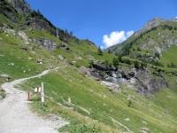Salita per l'Alpe Veglia, inizio del tratto ripido