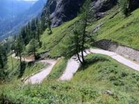 Salita per l'Alpe Veglia, tratto assai ripido