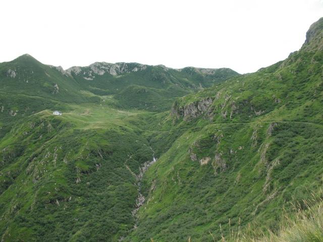 Panoramica del traverso da Sommafiume al rifugio il Giovo