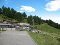 Alpe di Giumello, termine dell'asfalto