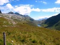 Panoramica su Oberalpsee e Oberalppass