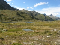 Laghetti alpini in direzione del Maighelspass